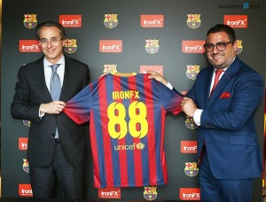 IronFX jako sponzor FCB