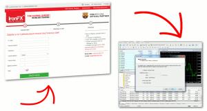Postup založení demo účtu v IronFX