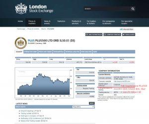 Plus500 na Londýnské burze
