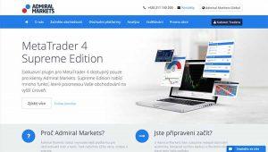 Úvodní stránka Admiral Markets