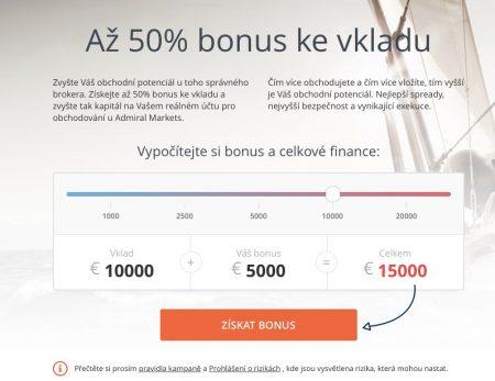 50% bonus od Admiral Markets