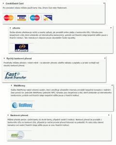 Možnosti platby u Markets.com